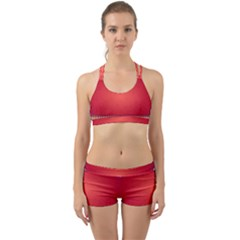 Background Red Abstract Back Web Sports Bra Set by Nexatart