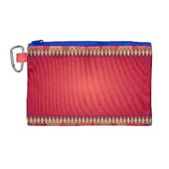 Background Red Abstract Canvas Cosmetic Bag (large) by Nexatart