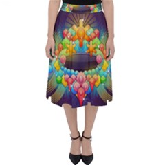 Badge Abstract Abstract Design Folding Skater Skirt by Nexatart