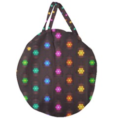 Lanterns Background Lamps Light Giant Round Zipper Tote
