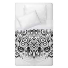 Forest Patrol Tribal Abstract Duvet Cover (single Size) by Nexatart