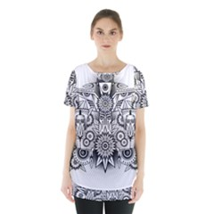 Forest Patrol Tribal Abstract Skirt Hem Sports Top