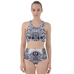 Forest Patrol Tribal Abstract Racer Back Bikini Set by Nexatart