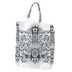 Forest Patrol Tribal Abstract Giant Grocery Zipper Tote