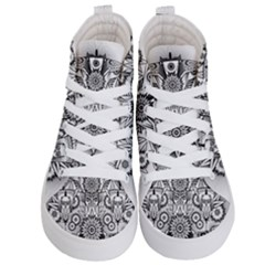 Forest Patrol Tribal Abstract Kid s Hi Top Skate Sneakers