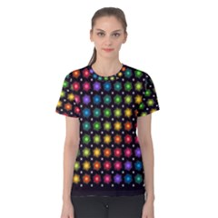 Background Colorful Geometric Women s Cotton Tee by Nexatart
