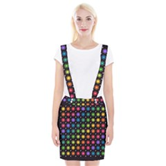 Background Colorful Geometric Braces Suspender Skirt