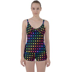 Background Colorful Geometric Tie Front Two Piece Tankini by Nexatart
