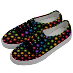 Background Colorful Geometric Men s Classic Low Top Sneakers by Nexatart