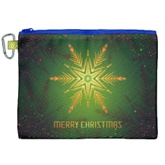 Christmas Snowflake Card E Card Canvas Cosmetic Bag (xxl) by Nexatart