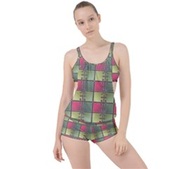 Seamless Pattern Seamless Design Boyleg Tankini Set
