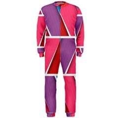 Abstract Background Colorful Onepiece Jumpsuit (men)