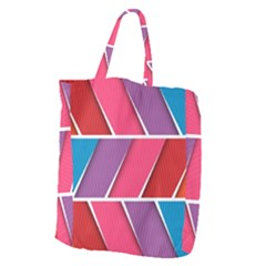 Abstract Background Colorful Giant Grocery Zipper Tote