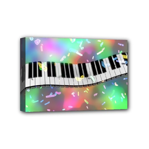 Piano Keys Music Colorful 3d Mini Canvas 6  X 4