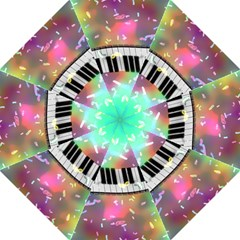 Piano Keys Music Colorful 3d Folding Umbrellas by Nexatart