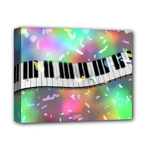Piano Keys Music Colorful 3d Deluxe Canvas 14  X 11  by Nexatart