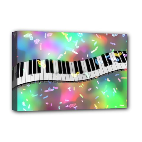 Piano Keys Music Colorful 3d Deluxe Canvas 18  X 12   by Nexatart