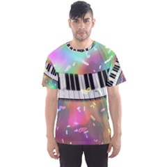 Piano Keys Music Colorful 3d Men s Sports Mesh Tee