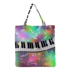 Piano Keys Music Colorful 3d Grocery Tote Bag by Nexatart
