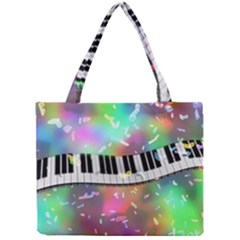 Piano Keys Music Colorful 3d Mini Tote Bag by Nexatart