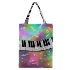 Piano Keys Music Colorful 3d Classic Tote Bag by Nexatart