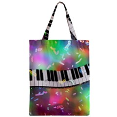 Piano Keys Music Colorful 3d Zipper Classic Tote Bag by Nexatart