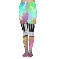 Piano Keys Music Colorful 3d Women s Tights by Nexatart