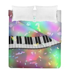 Piano Keys Music Colorful 3d Duvet Cover Double Side (full/ Double Size) by Nexatart