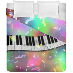 Piano Keys Music Colorful 3d Duvet Cover Double Side (california King Size) by Nexatart