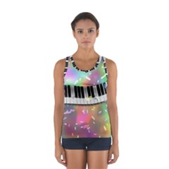 Piano Keys Music Colorful 3d Sport Tank Top  by Nexatart