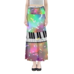 Piano Keys Music Colorful 3d Full Length Maxi Skirt by Nexatart