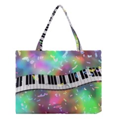Piano Keys Music Colorful 3d Medium Tote Bag by Nexatart