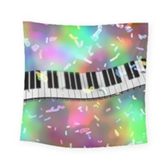 Piano Keys Music Colorful 3d Square Tapestry (small) by Nexatart