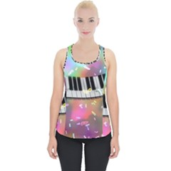 Piano Keys Music Colorful 3d Piece Up Tank Top