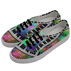 Piano Keys Music Colorful 3d Men s Classic Low Top Sneakers by Nexatart