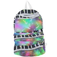 Piano Keys Music Colorful 3d Foldable Lightweight Backpack by Nexatart