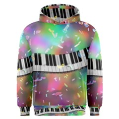 Piano Keys Music Colorful 3d Men s Overhead Hoodie by Nexatart