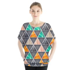 Abstract Geometric Triangle Shape Blouse