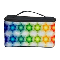 Background Colorful Geometric Cosmetic Storage Case by Nexatart