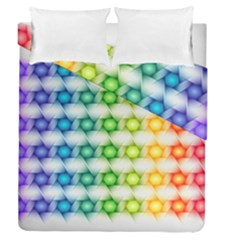 Background Colorful Geometric Duvet Cover Double Side (queen Size)