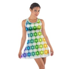 Background Colorful Geometric Cotton Racerback Dress