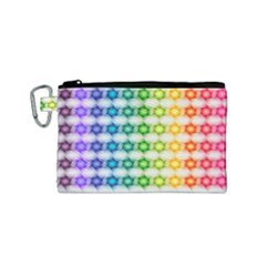 Background Colorful Geometric Canvas Cosmetic Bag (small) by Nexatart