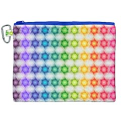 Background Colorful Geometric Canvas Cosmetic Bag (xxl)