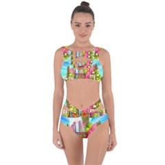 Zen Garden Japanese Nature Garden Bandaged Up Bikini Set
