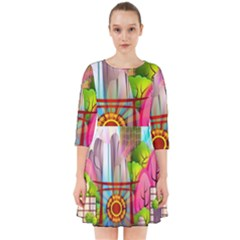 Zen Garden Japanese Nature Garden Smock Dress