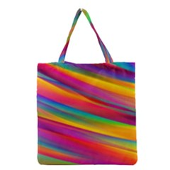Colorful Background Grocery Tote Bag