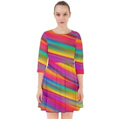 Colorful Background Smock Dress by Nexatart
