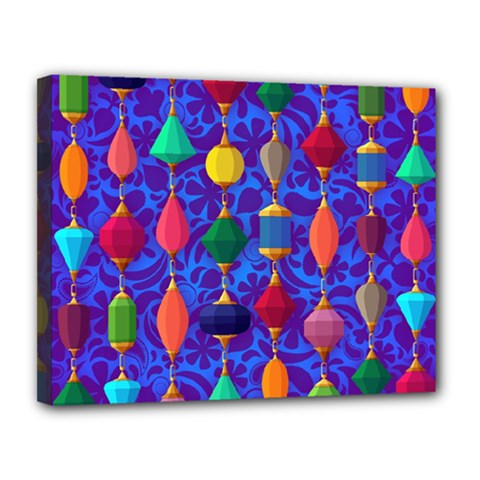 Colorful Background Stones Jewels Canvas 14  X 11  by Nexatart