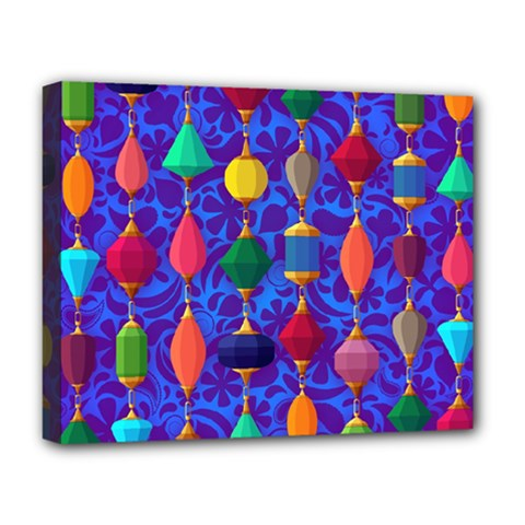 Colorful Background Stones Jewels Deluxe Canvas 20  X 16