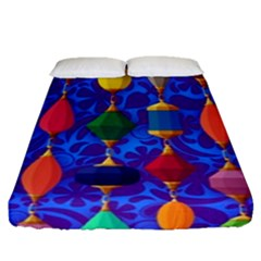Colorful Background Stones Jewels Fitted Sheet (queen Size)